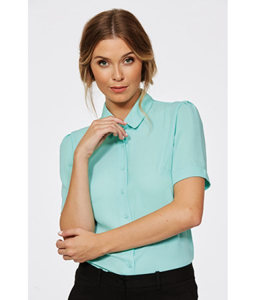 a0386579eb55a Corporate Reflection Ladies  Chloe Semi-Fitted Short Sleeve Blouse ...