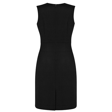 0f54007a52566c BIZ Corporates Ladies  Sleeveless V Neck Dress - 30121 - Uniform Sisters